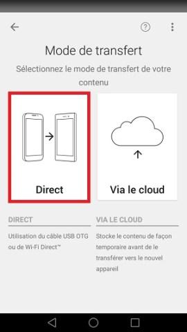 Xperia Transfer Mobile transfert direct