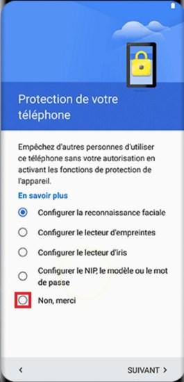 Activation Samsung Galaxy S8 non merci