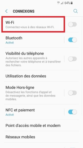 internet Samsung android 7 Wi-Fi