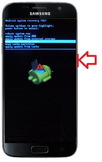recovery mode Samsung android 7.0