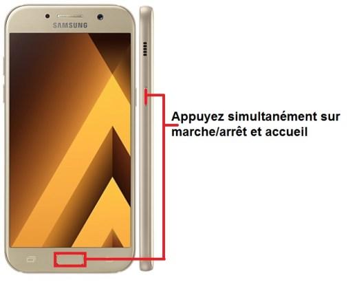 Samsung Galaxy A5 2017 imprim écran
