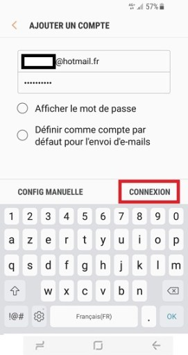 mail Samsung S8 email connexion