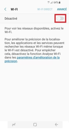 internet Samsung Galaxy S8 wifi
