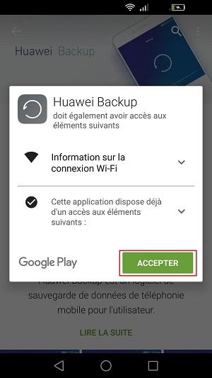 Sauvegarder réinitialiser restaurer mettre à jour (huawei backup)