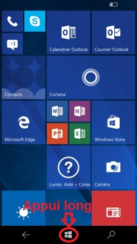 Trucs et astuces Lumia windows 10 application recente