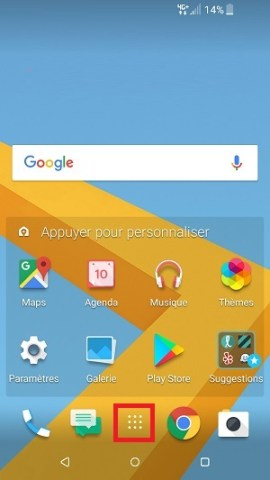 Personnaliser HTC android 7 applications
