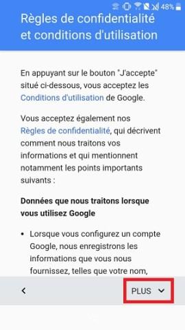 compte Google HTC