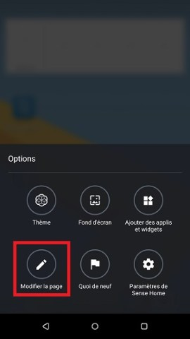 Personnaliser HTC android 7page accueil