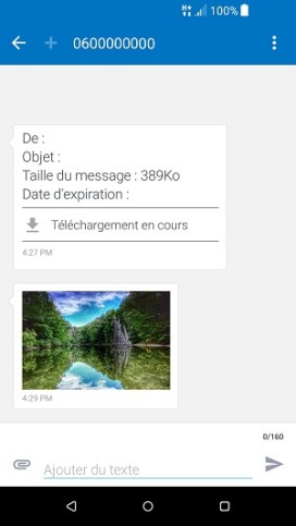 MMS HTC android 7 MMS ouvrir enregistrer