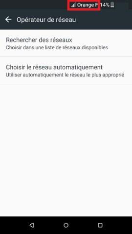 Échec réseau appel HTC android 6