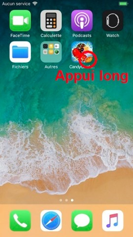 Applications iPhone 8 supprimer