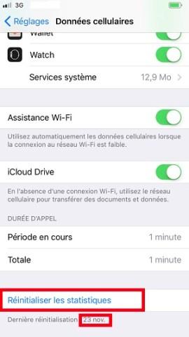 internet iPhone 8 consommation internet