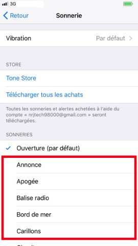 Personnaliser iPhone 8 sonnerie