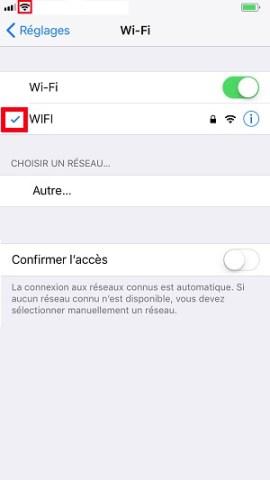 internet iPhone 8 Wifi