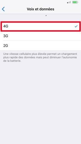 internet iPhone X voix et données