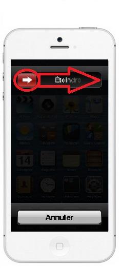 éteindre iPhone 5C