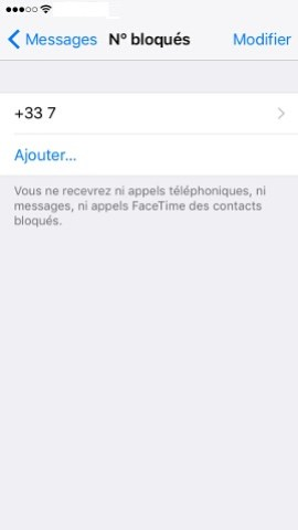 Iphone IOS 10 SMS bloqués