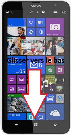 éteindre Lumia 1320