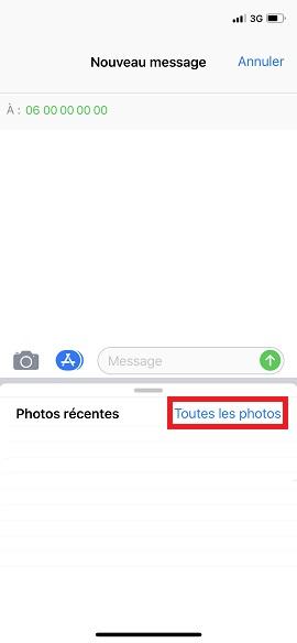 MMS iPhone 6, 6S, Plus, SE photothèque