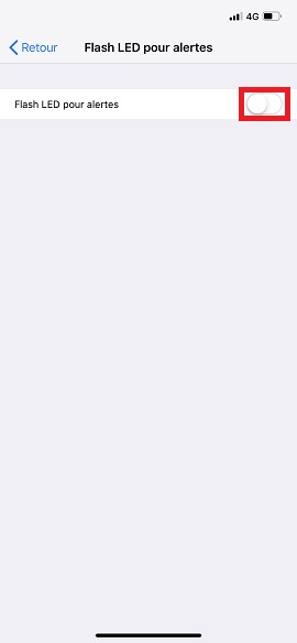 Trucs et astuces iPhone 6 6S plus SE-led-alerte-active