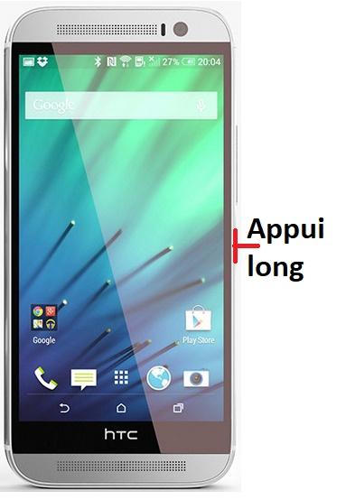 éteindre HTC M8