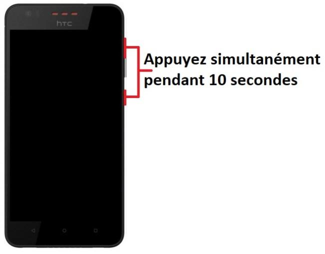 Allumer HTC Desire 825
