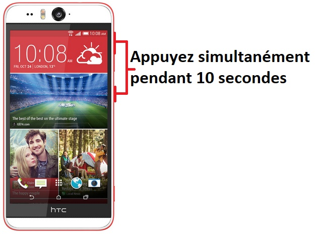 éteindre HTC Desire Eye