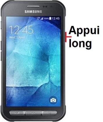 éteindre Samsung Xcover 3