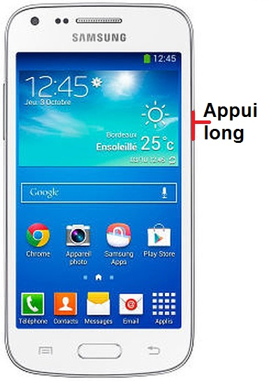 éteindre Samsung Core Plus