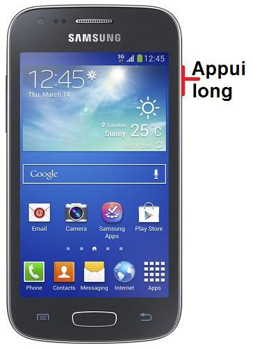 éteindre Samsung ACE 3