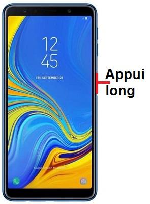 éteindre Samsung A7 2018
