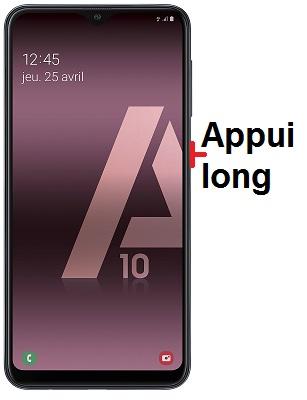 éteindre Samsung A10
