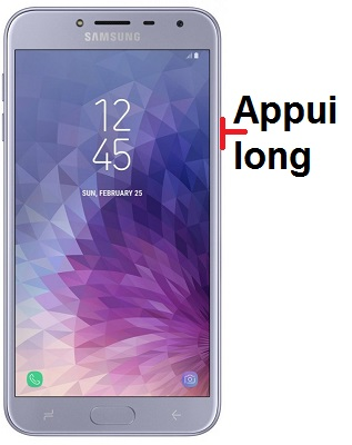 éteindre Samsung J4