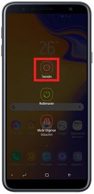 éteindre Samsung J6+