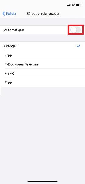 Réseaux iPhone 11