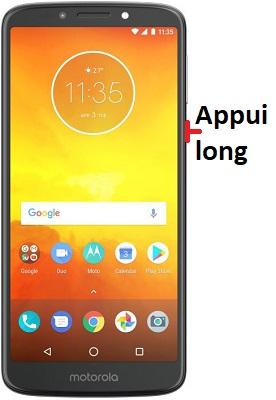 éteindre Motorola E5