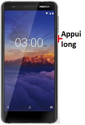 éteindre Nokia 3.1