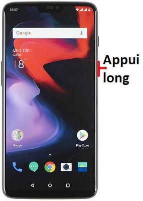éteindre OnePlus 6
