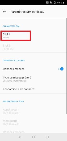 Appels & Réseau : OnePlus 7 Pro • Mobidocs