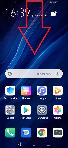capture d écran Huawei