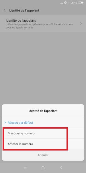 masquer numéro Xiaomi Note 5