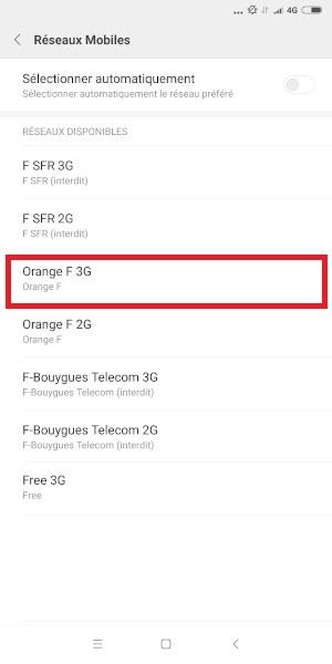 Réseaux Xiaomi Redmi Note 5