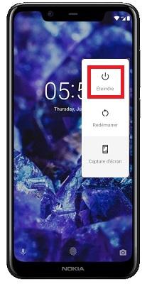 éteindre Nokia 5.1