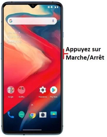 éteindre OnePlus 7T
