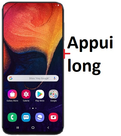 éteindre Samsung A30