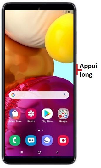 éteindre Samsung A51
