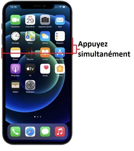 éteindre iPhone 12