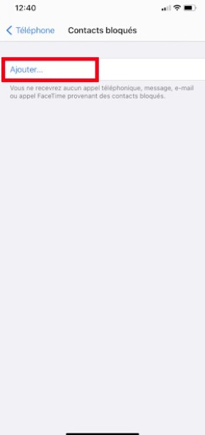 bloquer numéro iPhone 12 Pro