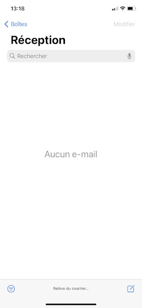iPhone XR Mail