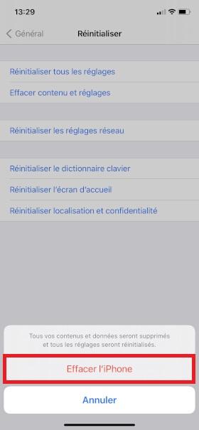 iPhone 6 reini reseau